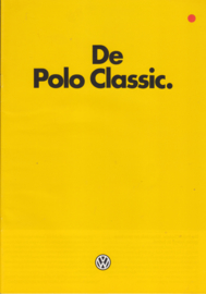 Polo Classic 2-door brochure, A4-size, 24 pages, 08/1983, Dutch language