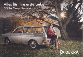412 Station Wagon, A6-size postcard, issue Dekra, German, 2015