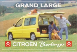 Citroen Berlingo Grand Large, sticker, 15 x 10 cm *