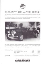 Hutson TF replica leaflet, 1 page, about 1985, German language