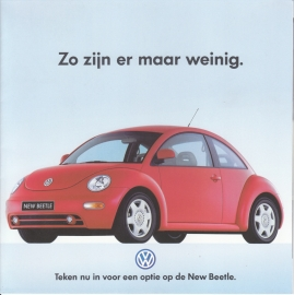 New Beetle intro brochure, square, 12 pages, Dutch language, about 1999
