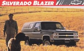 Silverado Blazer,  US postcard, large size, 19 x 11,75 cm, 1989