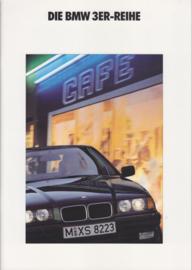3-Series Sedans brochure, 50 pages, A4-size, 2/1991, German language