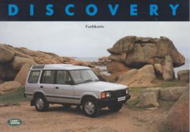 Discovery colors/upholstery folder, 4 pages, 6 languages, # LR635