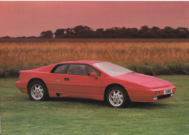 Esprit Turbo sportscar, 2 page leaflet, DIN A4-size, 1989, factory-issued, English