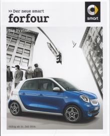 Forfour pricelist,  28 pages, 07/2014, German language