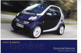 Smart Fortwo Passion, A6-size postcard, Geneva 2002