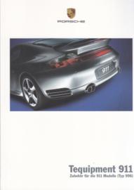911 Tequipment (996) brochure, 36 pages, 05/2004, German