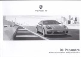 Panamera pricelist, 102 pages, 01/2014, Dutch language