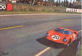 Ferrari racecar on circuit, DIN A6-size, unused, Dutch issue, 2008