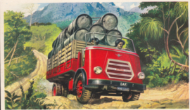 Truck with oil barrels, standard size, factory issue, 5 languages, about 1960, # 6