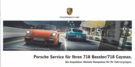718 Boxster & Cayman Service brochure,  12 smaller pages, 03/2017, German language