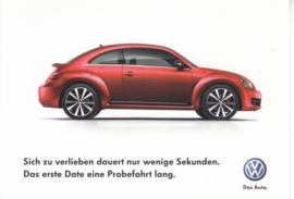 21st Century Beetle postcard,  A6-size, German language