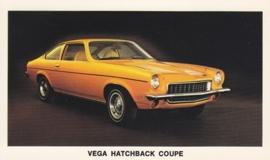 Vega Hatchback Coupe,  US postcard, standard size, 1973