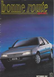 405 Sedan brochure, 16 pages, A4-size, 9/1987, Dutch language