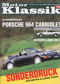 964 Cabriolet test vs. Mercedes-Benz 600SL reprint, 8 pages, 5/2005, German language