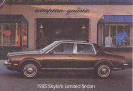 Skylark Limited Sedan, US postcard, standard size, 1985