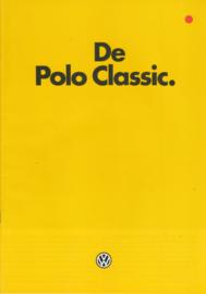 Polo Classic brochure, 24 pages,  A4-size, Dutch language, 1/1983