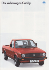 Caddy Pick-up brochure, 16 pages,  A4-size, German language, 7/1987