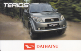 Daihatsu Terios calendar card, year 2006, plastic, credit-card size