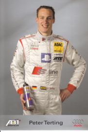 TT with racing driver Peter Terting, unsigned postcard 2003 season, German language