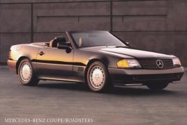 300 & 500 SL Roadster, A6-size, English language, USA, about 1991