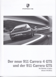 911 Carrera / Carrera 4 GTS pricelist, 102 pages, 04/2011, German