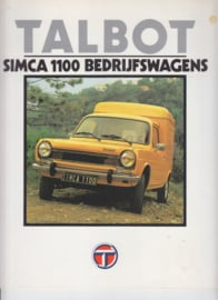 Simca 1100 Commercials, 8 large square pages, Dutch language, 9/79
