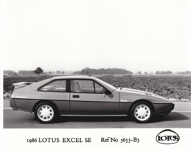 Lotus Excel SE- factory photo - 1986 - Ref No 5633-B3 - UK market