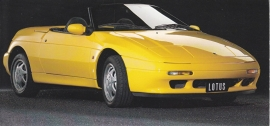 Elan Convertible 1600,  18 x 8,5 cm card, about 1990, Dutch issue