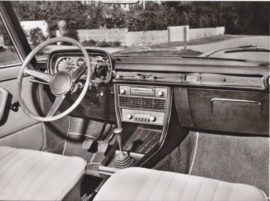 BMW 2800 Sedan interior - 1969 - German text on the reverse