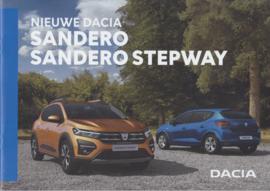 Sandero  & Sandero Stepway brochure, 32 pages, A4-size, 01/2021, Dutch language