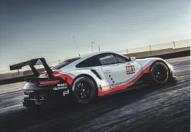 911 RSR sportscar factory issued postcard,  DIN A6-size, German, 2016