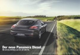 Panamera 3 Liter Diesel leaflet, 2 pages, 2014, German