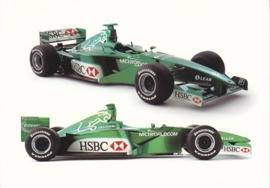 Formula 1 race car, large postcard, 16 x 11 cm, The art of performance