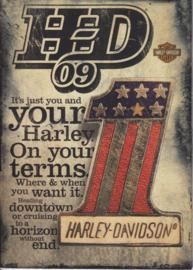 Harley Davidson 2009 program brochure, 36 + 4 pages, English language