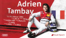 Racing driver Adrien Tambay, unsigned postcard 2015 season, German language