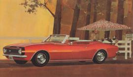 Camaro SS-350 Convertible, US postcard, standard size, 1967