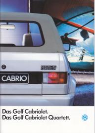 Golf Cabriolet/Cabriolet Quartett brochure, A4-size, 32 pages, German language, 08/1987