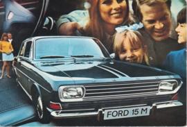 15M 2-door Sedan, DIN A6-size postcard, empty back side, approx. 1969