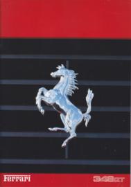 348 GT brochure, A4-size, 28 + 6 pages, 12/1993, 4 languages