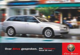 156 Sportwagon postcard, DIN A6-size, about 1998, Dutch freecard