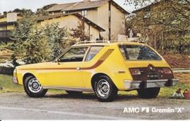 Gremlin X, US postcard, standard size, 1974