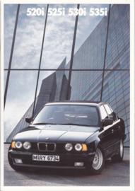 520i/525i/530i/535i brochure, 48 pages, A4-size, 1/1988, German language