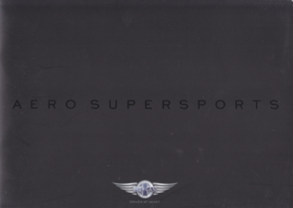 Aero Super Sports V8 brochure, 20 large pages, about 2016, UK, English language