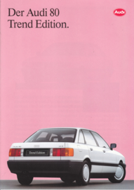 80 Trend Edition brochure, 6 pages, about 1991, German language