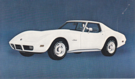 Corvette,  US postcard, standard size, 1975
