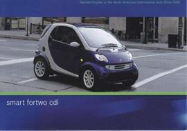 Smart Fortwo CDI, A6-size postcard, NAIAS 2005