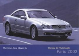 Mercedes-Benz CL-Class Coupe, A6-size postcard, Paris 2002