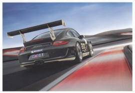 911 GT3 Cup, continental size postcard, factory-issued, English/German text, about 2009